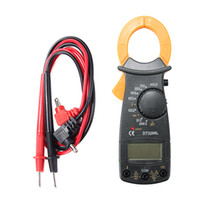 Wholesale DT3266L Portable Handheld Digital Clamp Meter Multimeter Voltage Current Resistance Tester with Test