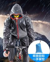 Wholesale Sports Outdoors Wear Mountain bike outdoor sports riding fission raincoat rain pants suit men cycling is prevented bask in