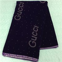 Wholesale New Arrival Cotton African Guipure velvet Lace Fabric Chemical african Lace Fabric High Quality for wed HR8