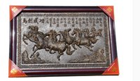 age horses - Chinese aged Yunnan Pu er tea craft tea carving horse to the success of square shaped pendant gift box super Pu er tea