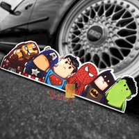 awesome car stickers - 6 Styles To Choose Super hero hitchhike American Hero car styling awesome car sticker Avengers Age of Ultron Let ride the hero