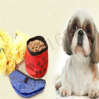 Wholesale 15CM Portable Oxford Fabric Pet Dog Cat Collapsible Foldable Travel Camping Food Feeder Bowl Colors