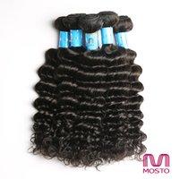 9pcs 12-30 pouces Cheveux péruviens Hair Weave Cheveux brésiliens humains Cheveux Extensions Cheveux Trames Deep weave