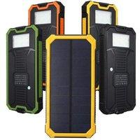 10000mAh portátil de doble puerto USB de copia de seguridad Solar Power Bank cargador de batería externo el Powerbank fuente de alimentación para iPhone 6 6s 6plus S6