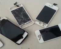 bar crush - fractured cracked crushed display screen repair spare parts for Samsung Cracked Glass broken display