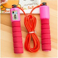 Wholesale NEW Electronic Counting Jump Rope Skipping Rope Gym Fitness Losing Weight Jump Rope Sports Exercise Equipment M LJJP131