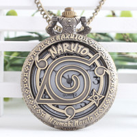 antique pendant watch - Anime Cosplay Naruto Quartz Pocket Watch with Necklace Pendant for Xmas Gift