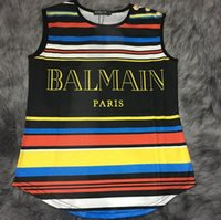 Wholesale Balmain new rainbow sleeveless vest female T shirt