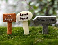 ceramic figurines - Resin Crafts sign board signboard miniatures fairy garden gnome moss terrarium decor bonsai Figurines Micro Landscape
