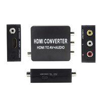 Wholesale New HDMI2AV Converter HDMI to AV Audio Converter Support SPDIF Coaxial Audio NTSC PAL Composite Video HDMI TO RCA Adapter