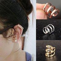 Wholesale 1pc Womens New Punk Rock Ear Clip Cuff Wrap Earring No Piercing Clip On Jewelry C00104 CAD