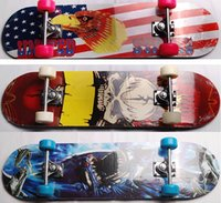 Wholesale Children skateboard Outdoor sports Four wheels longboard Maple wood skateboards Mixed delivery