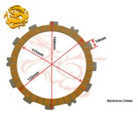 Wholesale Motorcycle Parts Clutch Friction Plates Kit For SUZUKI RM125 RM CP motorcycle clutch kits