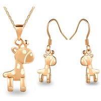 Wholesale 2016 lovely horse necklace and earrings set popular necklace set party korean style elegant jewelry set LG197