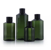 color bottle packaging - 50ml ml ml ml PET packaging bottle with aluminium oxide cap dark green color high quality bottle