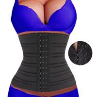 Wholesale weight loss for women waist clincher black hourglass corset waist trainer with straps bodyshaper women tummy slimming belt