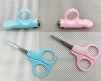 baby manicure set - Non Slip Over Pruning Nail Care Security Baby Nail Scissors Suit Retail Self Kids Nail Clippers And Scissors Chrome Plated Metal