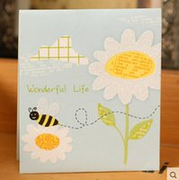 bee birthday cards - Sunflower With Bee Pattern And Multi Style Birthday Gifts Cards Christmas Message Card mm