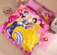 ariel sheet set - girl kids bed set for girls Rapunzel Ariel queen size princess cartoon bedding sets twin full size cartoon bed sheets
