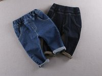 Wholesale New Style Super elastic New style cotton kids pants breathing jeans panty Private cowboy hot style boy jeans pants