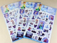 Wholesale 2016 Hot sell Frozen D Stickers Snow Queen Princess Elsa Anna Olaf Bubble Cartoon Sticker Colourful Baby Gifts Kindergarten Stickers A5321