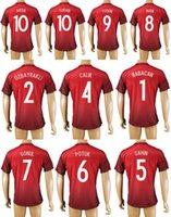 Turquía Fútbol jerseys CONJUNTOS casa Fuera Tailandia Maillot de las camisas del fútbol Babacan Ozbayrakli Calik Sahin Potuk Gonul Inan Tosun Turan Arda