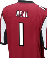 Wholesale SWEN any player number you need or Keanu Neal Atlanta black red white elite jersey size small S xl