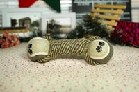 Wholesale New tennis dog toys hand woven cotton rope dog toys molar tooth care pet supplies Toys