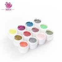 arrival glitters nail - New Arrival Colors Nail art Glitter Powder UV GEL UV Glitter Gel Nail Gel Colorful Gel g bottle