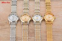 Nuevas mujeres del estilo impermeable Relojes Moda Relojes Deporte Aleación De Reloj De La Joyería De Acero Inoxidable Hebilla Reloj De Cuarzo Diamante Relojes