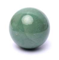 Wholesale 32mm NATURAL green Aventurine Jade CRYSTAL Sphere ball HEALING