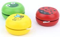 Wholesale wChildren s educational toys Wooden cartoon animals yo yo yo yo yoyo ball classic retro puzzle baby educational toys