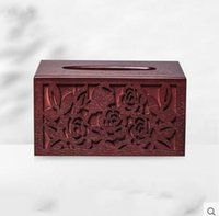 Wholesale Wood tissue box european style originality chart drum sanitary napkin paper box home sitting room furniture