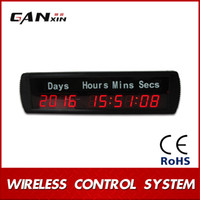 Wholesale GANXIN quot Character High LED Countdown Timer Digital Clock Countdown Or Count Up Time in Days Hours Minutes Seconds With Silk Label