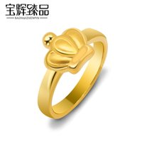 Wholesale 3D hard gold crown ring girlfriend birthday gift g