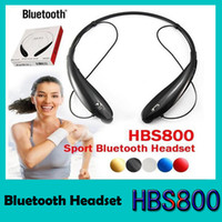Wholesale HBS Bluetooth Headset HB800 Headphones Stereo in Ear Headset for Samsung S7 iPhone HBS Headphones Wireless Bluetooth Earphones