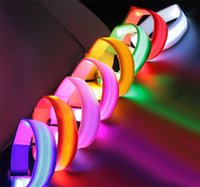 Wholesale Fashion New Flashing Led Light Glow Armbands Belt Sports Festival Parties Multi Color B0793