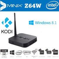 Wholesale MINIX NEO Z64W Windows Bing TV Box Intel Atom Z3735F bit Quad Core G G XBMC Fully P Smart TV Receiver