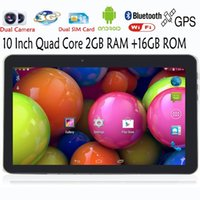 Wholesale Original Inch WiFi GPS FM Bluetooth G G Tablets Pc Built in G Phone Call Android Quad Core Android GB RAM GB ROM