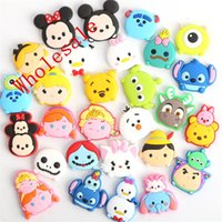 anna clogs - New TSUM TSUM Mickey Minnie Elsa Anna cartoon Soft decoration accessories Shoe Charms Flat PVC DIY Gadgets Novelty kids gifts