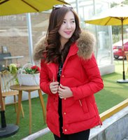 Wholesale new Down Jacket Thickening Coat Standing Collar Slim large size Korean version Female Fall Winter Clothing