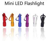 best keychain flashlights - Best Portable Mini LED Flashlight Keychain Aluminum Alloy Torch with Carabiner Ring Keyrings LED mini Flashlight Mini light
