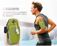 Wholesale 2016 New design Mobile Phone Arm Band Bag Outdoor Sports Running Wrist Case Arm Bag Fitness Package Fashion bag