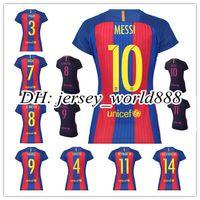 barcelona women - Top Thailand women Barcelona home jerseys lady MESSI ARDA A INIESTA SUAREZ I RAKITIC NEYMAR JR Spain feminine away football shirt