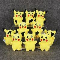 Unisex anime rings - Anime Cartoon Poke Pikachu Plush Toys Dolls with Ring Soft Stuffed Dolls cm