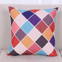 Wholesale Geometric Style Cushion Decorative Pillows Square CM Colorful Striped Cushions Home Decor Para Home Decorative Case wp226