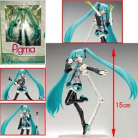 Wholesale Japan Anime Hatsune Miku Figure Figma PVC Action Figure Collectible Brinquedos Kids Toys Juguetes quot CM