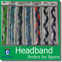 basketball grip - 2016 Custom Triple Braided Sports Headband with NON SLIP GRIP for Running Soccer Softball Basketball Volleyball Crossfit Yoga for girls wome