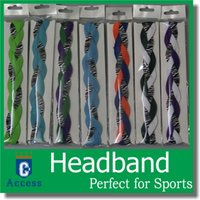 Wholesale New arrival Braided non slip sports headband anti glissement grip headbands keep your eyes on the prize