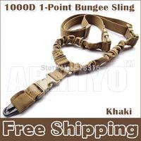air guns accessories - Armiyo Tactical US Heavy Duty D Nylon Single Point Dual Bungee Air Soft Sling ABS Buckle Hunter Hunting Gun Accessories